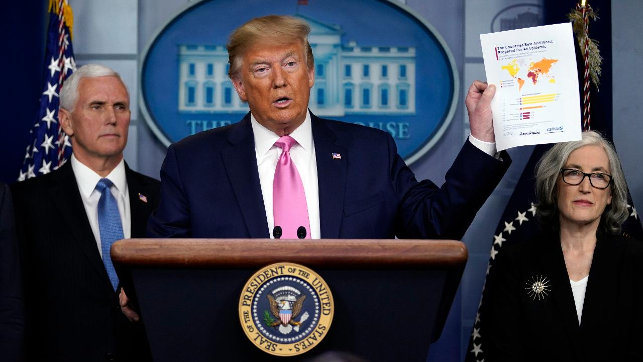 President Trump says travel-related companies that have lost business from coronavirus shouldn't worry because the virus should be gone by then.