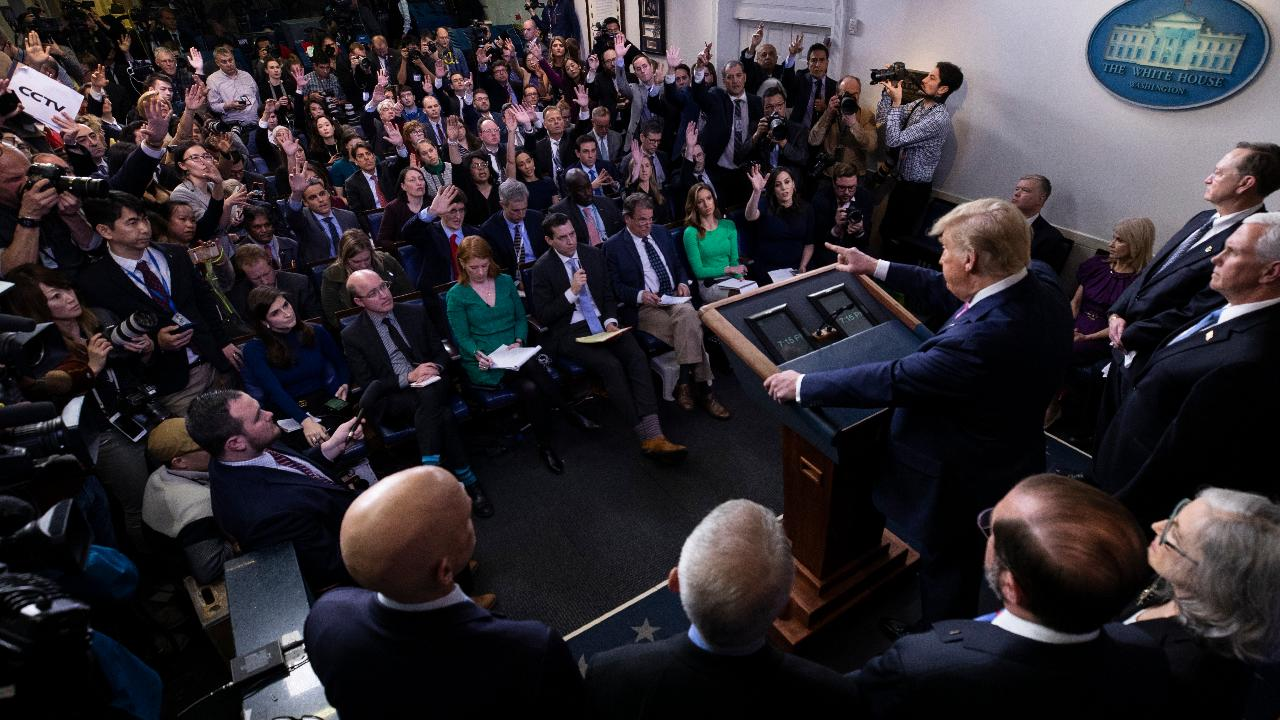 President Trump says the U.S. is testing Americans who have displayed coronavirus-related symptoms but not overly testing people because they are treating it like the administration treats the flu.