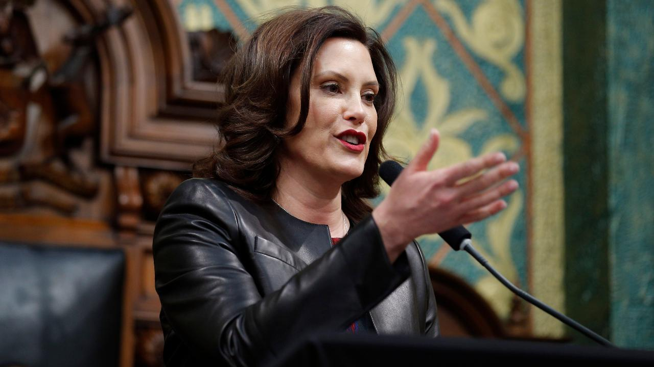 Michigan Gov. Gretchen Whitmer, a Democrat, says President Trump and Republicans want to take hard-working Americans' healthcare away from them.