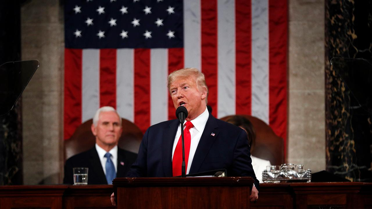 President Trump discusses improving infrastructure and internet access in the U.S. while delivering his 2020 State of the Union.