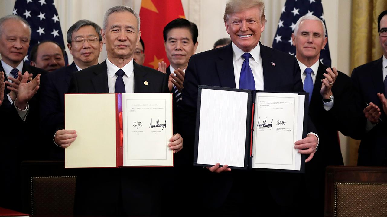 Former Trump campaign senior trade and jobs adviser Curtis Ellis says the Chinese government is responsible for saying the 'phase one' U.S.-China trade deal could be delayed from coronavirus.