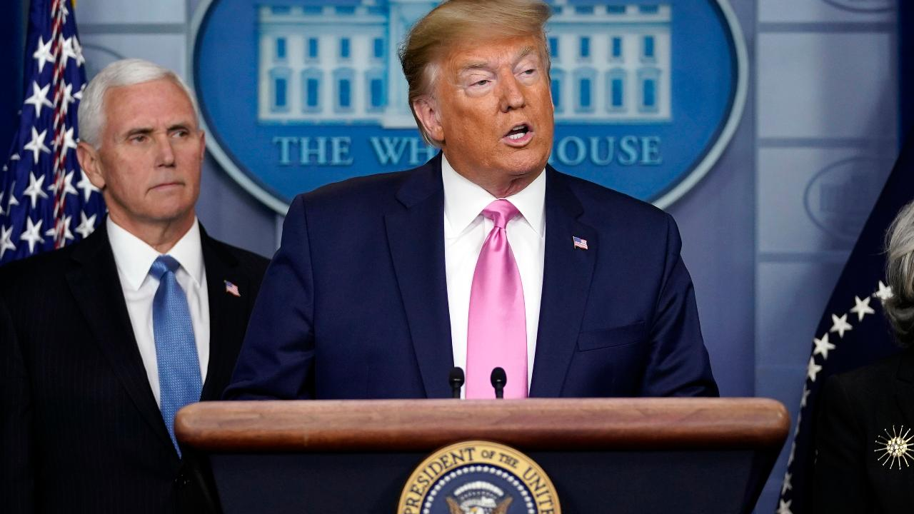 President Trump says he has great confidence in Vice President Mike Pence after studying Indiana's health care model.