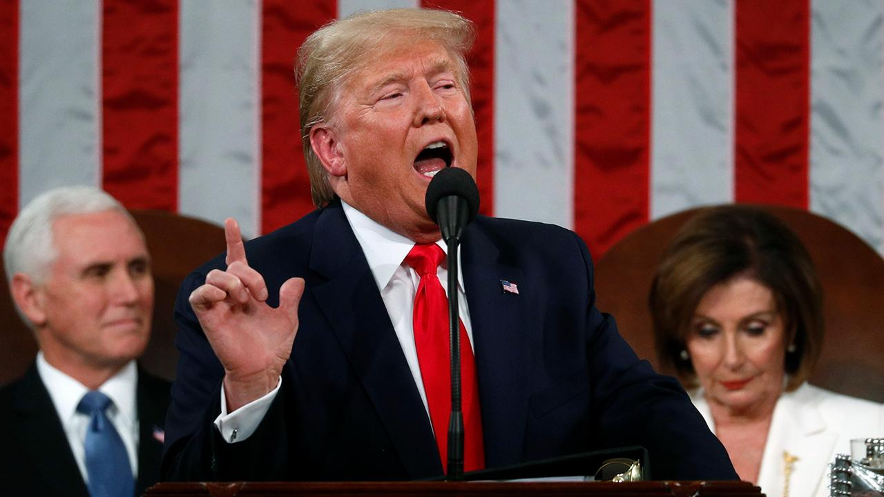 President Trump says the State of the Union is 'stronger than ever before' while delivering his 2020 State of the Union.