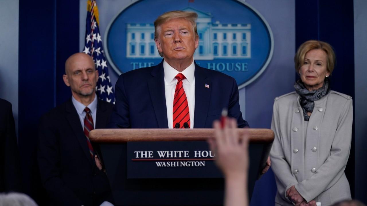 President Trump discusses stock buybacks.