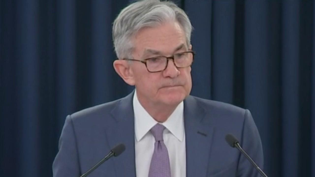 Federal Reserve Chairman Jerome Powell discusses how the coronavirus becoming a risk to the U.S. economy stimulated a rate cut.<br>