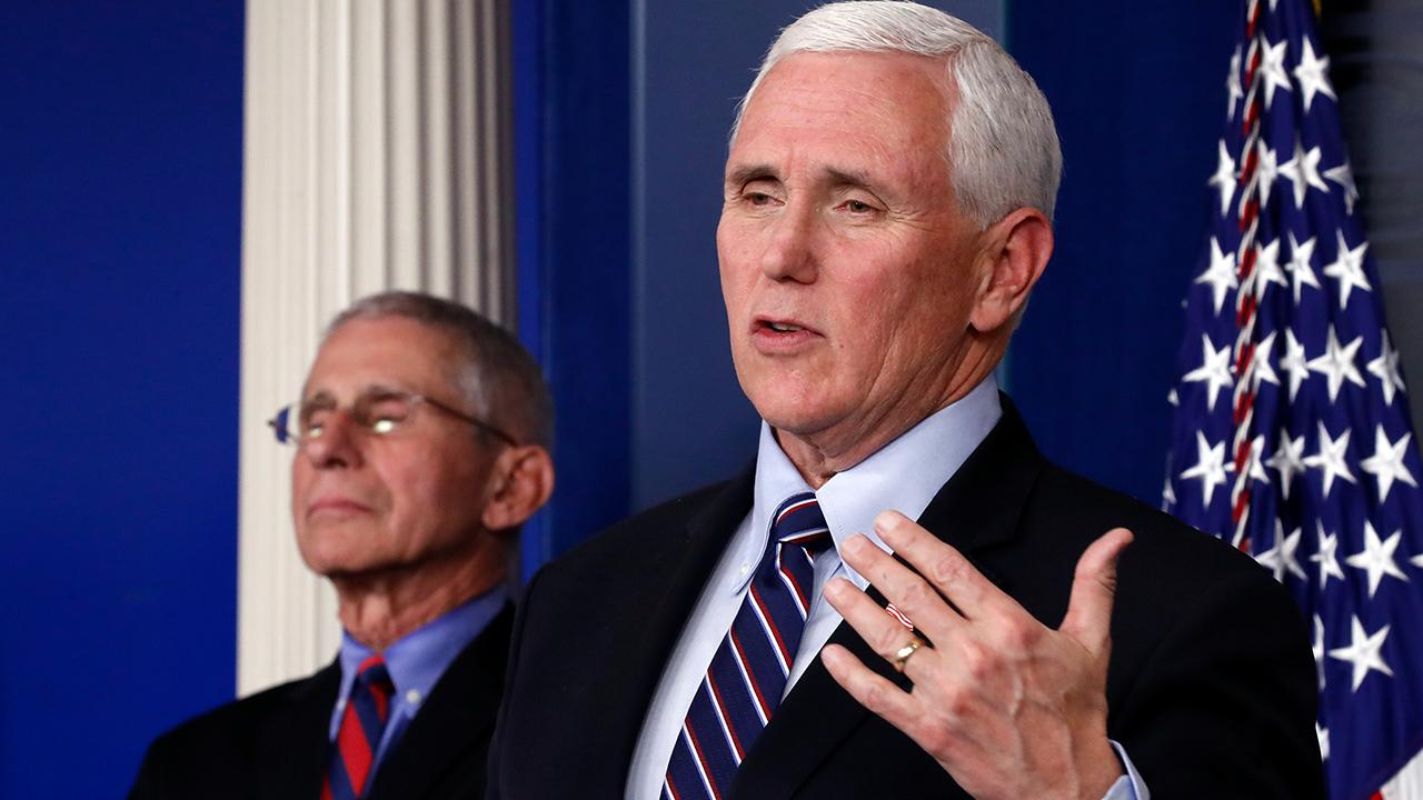 Vice President Mike Pence shares his appreciation for Americans companies like Walmart, Amazon and Pizza Hut contributing to the coronavirus fight.
