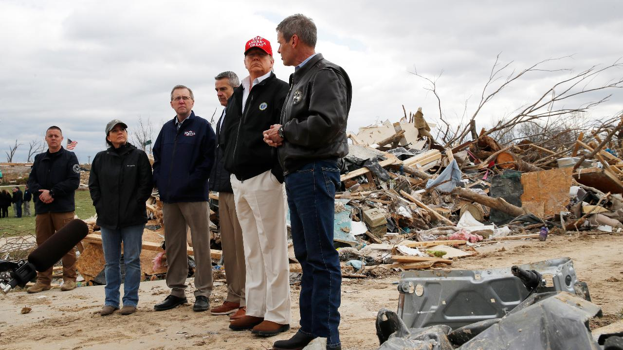 President Trump visits Nashville, Tennessee, to survey the damage and give his condolences to victims.