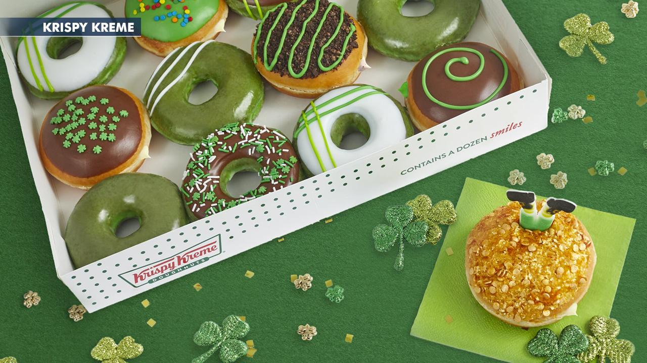 Fox Business Briefs: Krispy Kreme plans to debut 'greenified' versions of the chain's donuts for St. Patrick's Day at participating locations; Disney World officials release action plan if a visitor is thought to have the virus.
