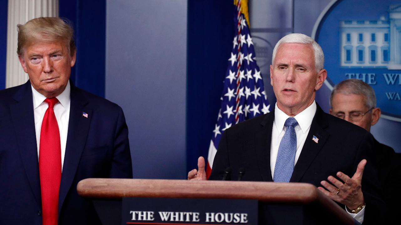 Vice President Mike Pence says the U.S. has done more coronavirus tests in the last eight days than in the past two months due to the strong partnerships formed between the private and public sectors.
