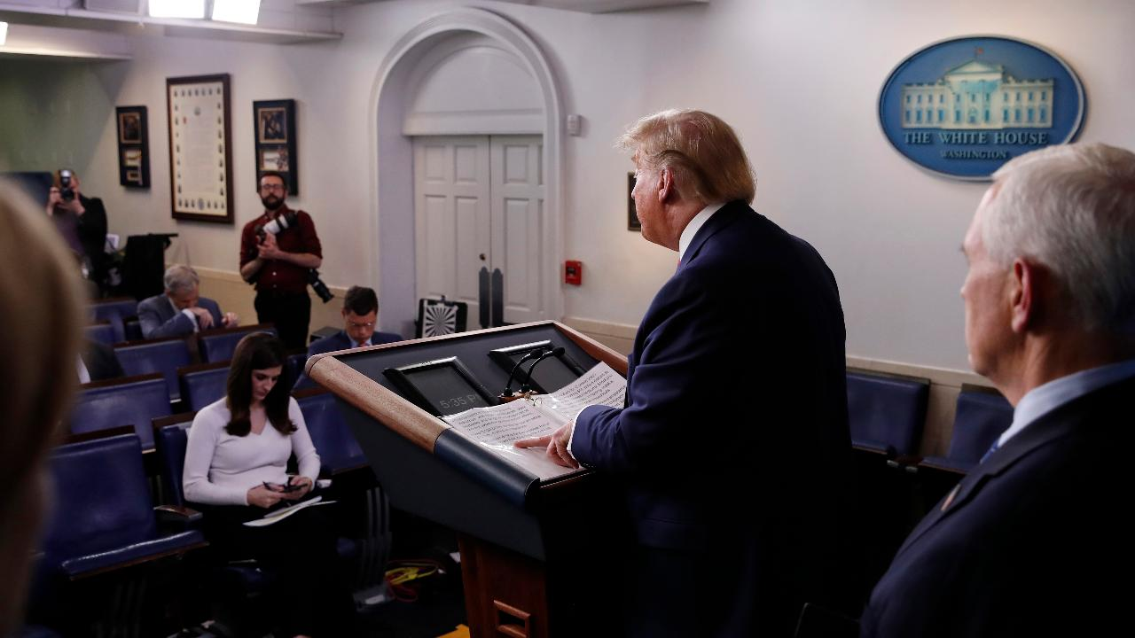 President Trump thanks Congress for showing bipartisanship toward the coronavirus stimulus relief bill and discusses meetings he held with world leaders and state governors on the coronavirus outbreak.