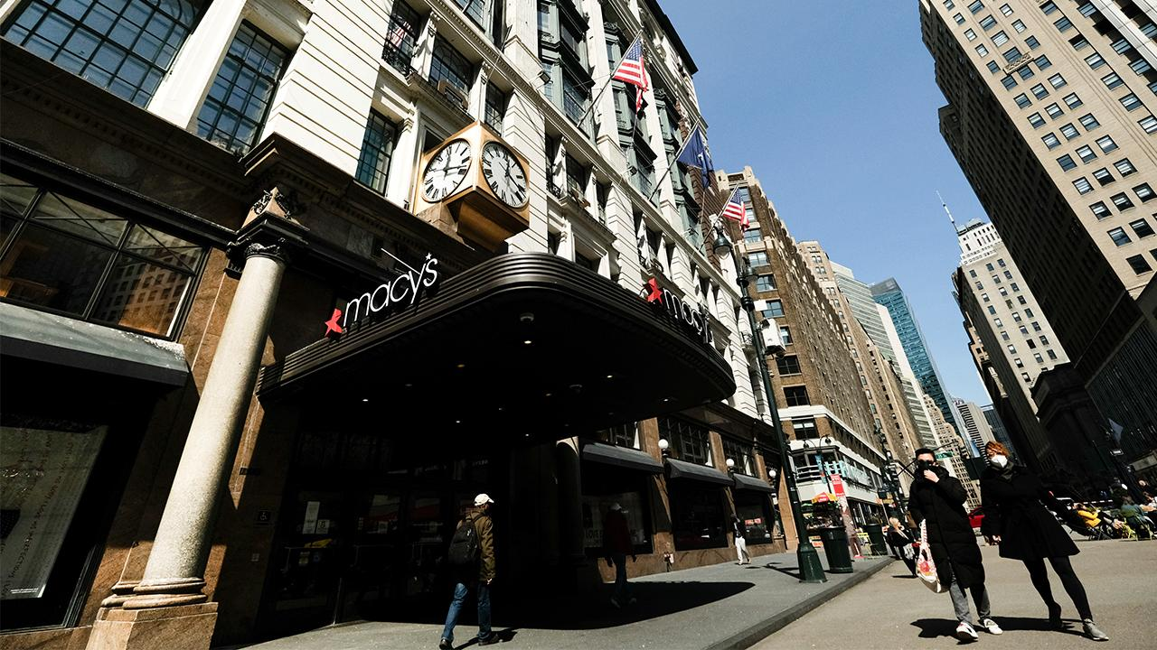 Macy's will furlough a majority of their employees as sales have evaporated. FOX Business' Susan Li with more.