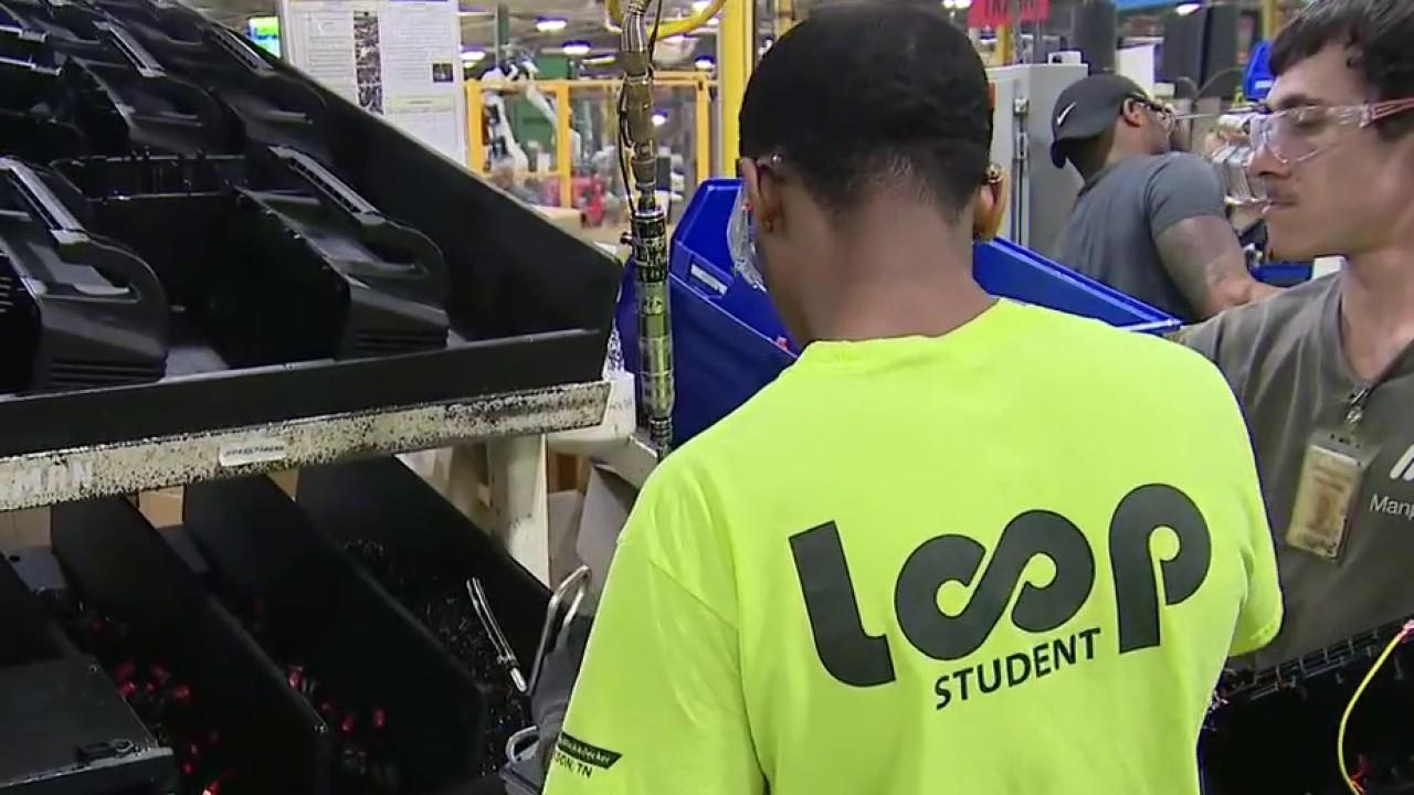 High School students in Tennessee are working in a factory while attending their normal classes. FOX Business' Grady Trimble with more.