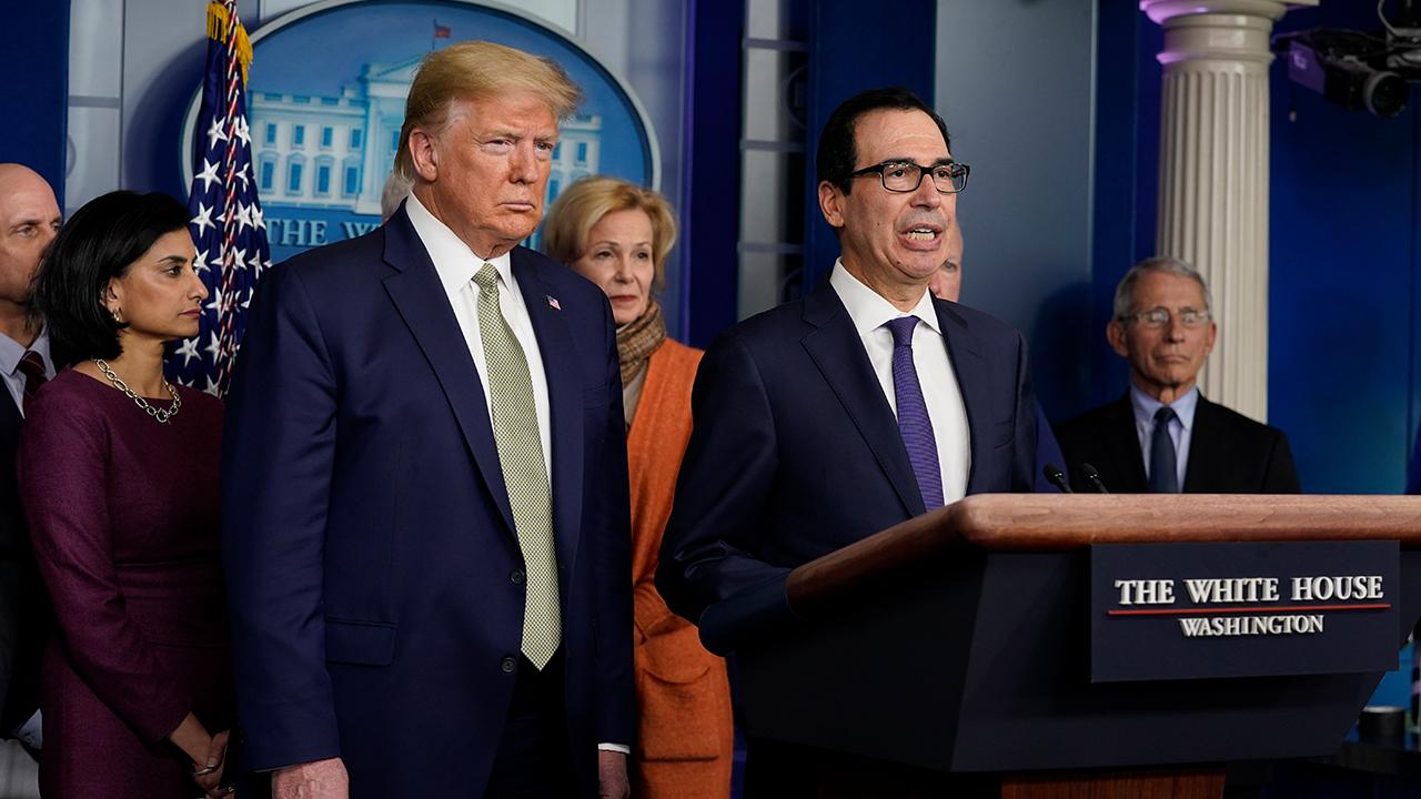 Treasury Secretary Steven Mnuchin argues providing liquidity for companies is a top priority and there is massive bipartisan support for this economy.