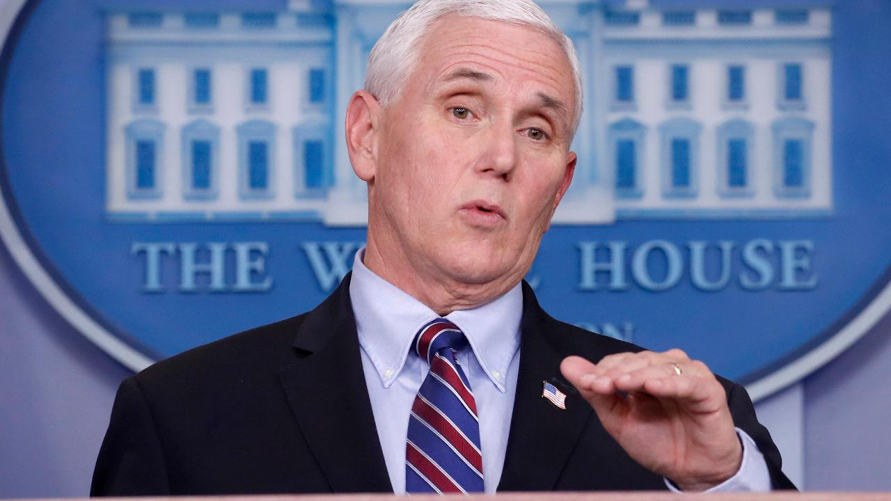 Vice President Mike Pence commends state governors and businesses for their leadership and willingness to help recover the economy and contain coronavirus.