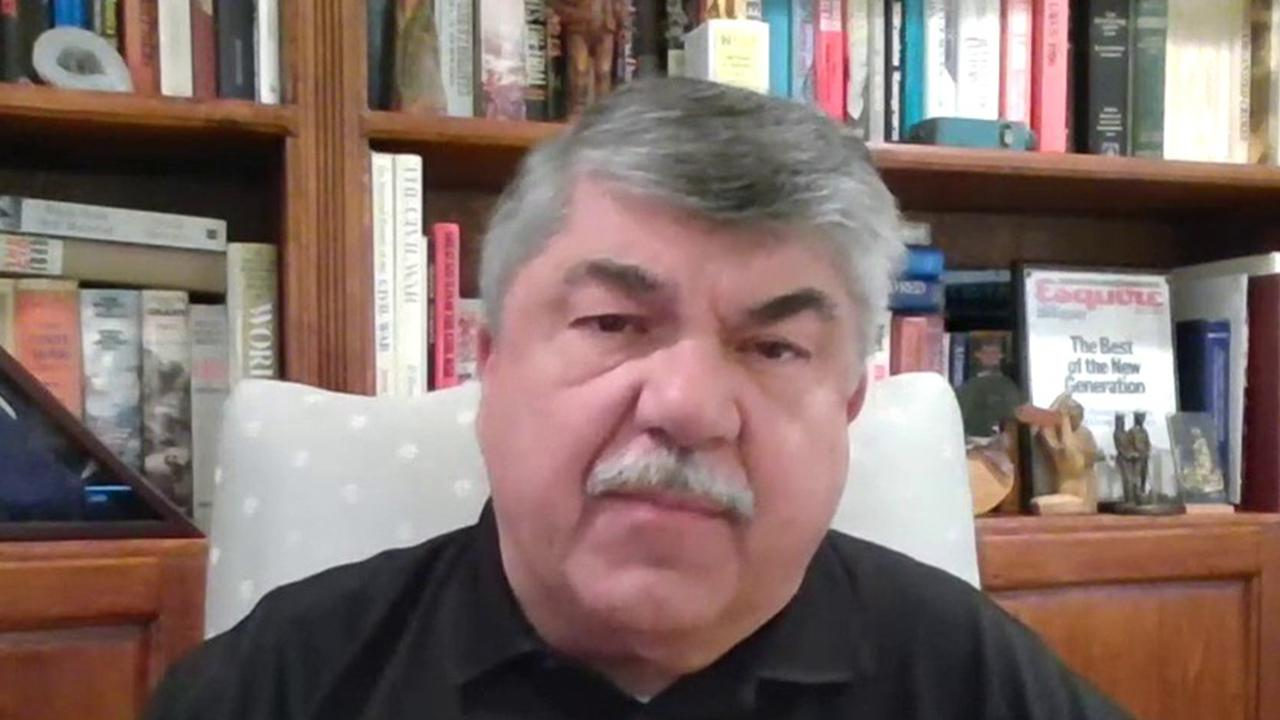 AFL-CIO President Richard Trumka argues the coronavirus stimulus package doesn't do enough for frontline health care workers and U.S. pensions.