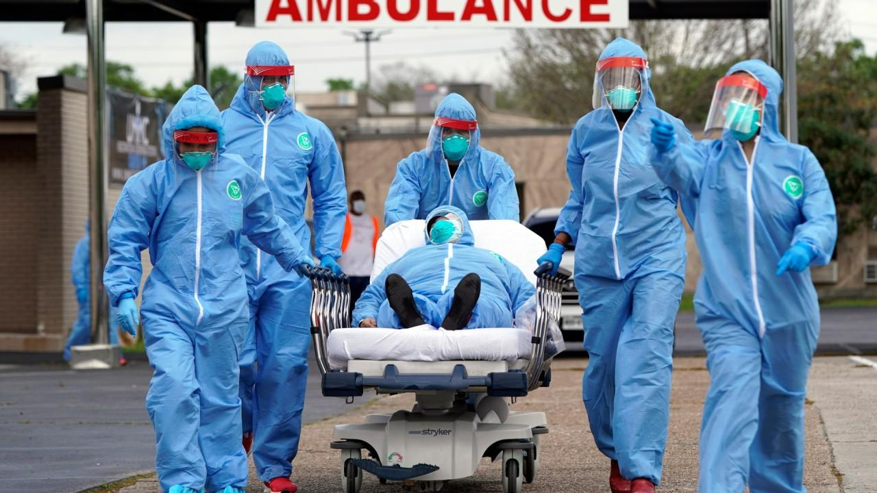 Dr. Ed Racht, Global Medical Response chief medical officer says his 38,000 EMTs paramedics and nurses are seeing an influx of coronavirus patients.