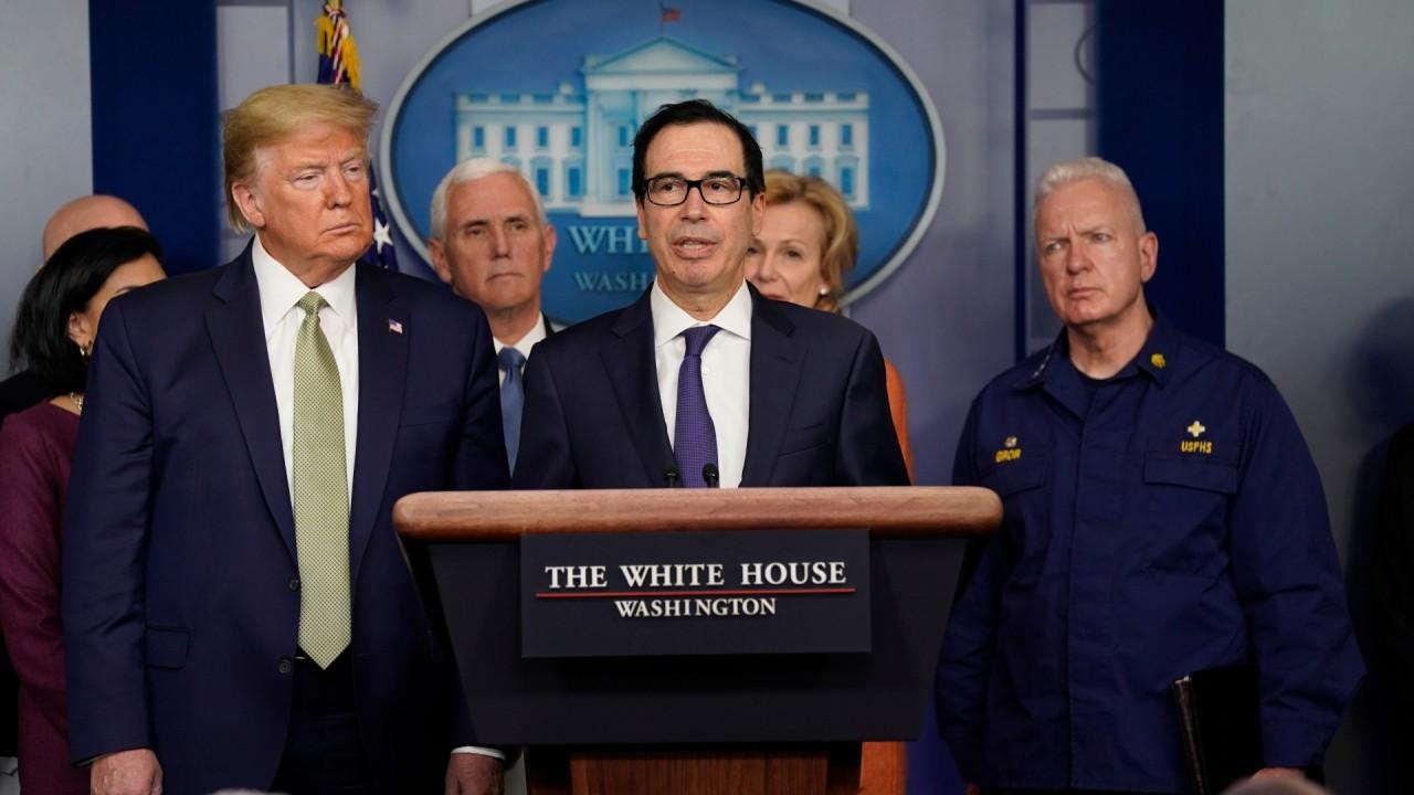 Treasury Secretary Steven Mnuchin discusses steps the White House is taking to satisfy economic discomfort amid coronavirus.
