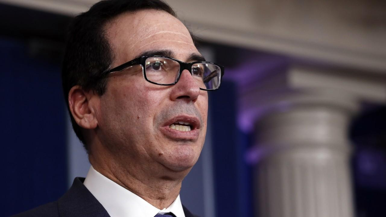President Trump and Treasury Secretary Steven Mnuchin says the stimulus bill will ensure hard-working Americans receive monetary aid while coronavirus continues to spread.