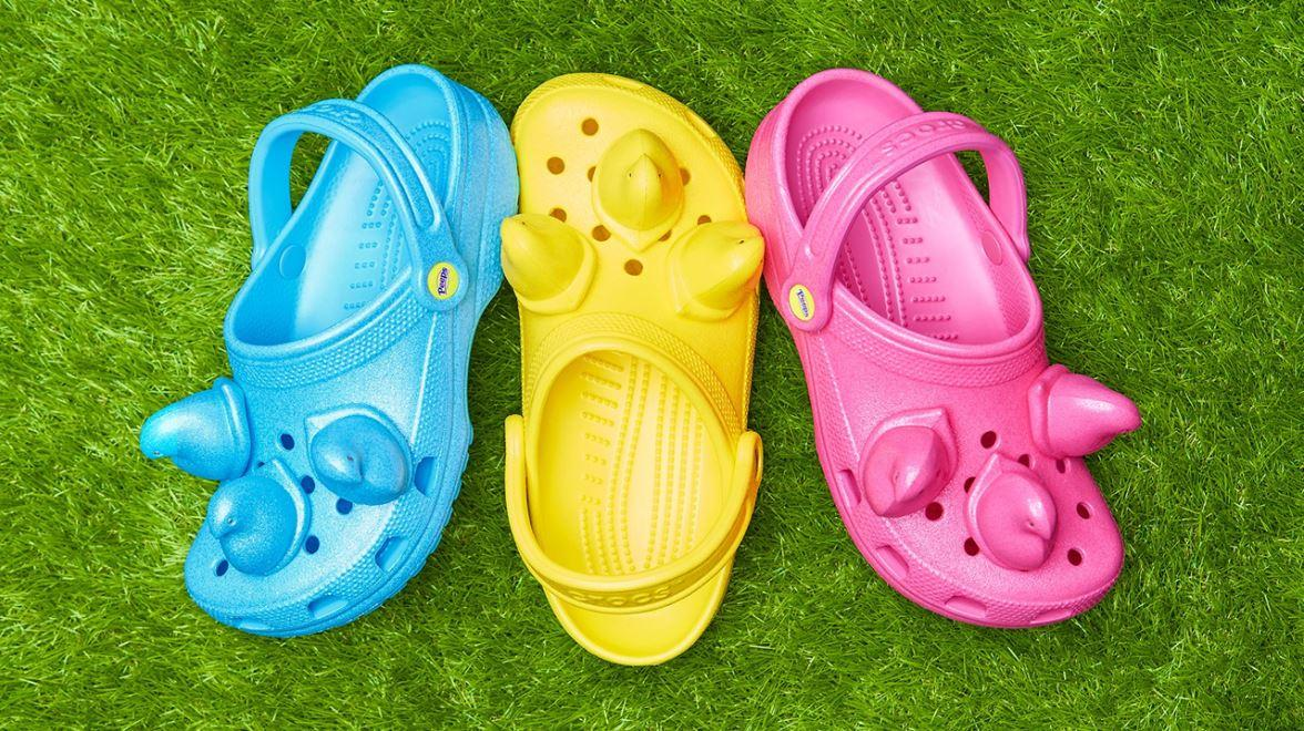 Crocs has created a Peeps inspired shoe. FOX Business' Cheryl Casone with more.