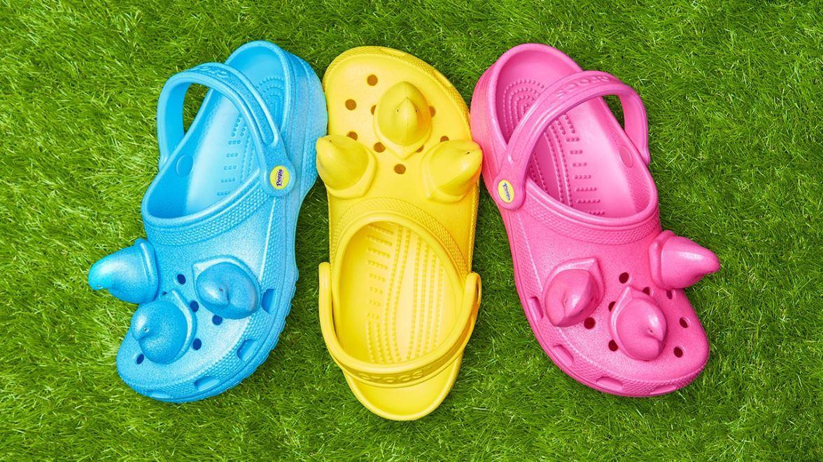 Crocs has created a Peeps inspired shoe. FOX Business' Cheryl Casone with more.