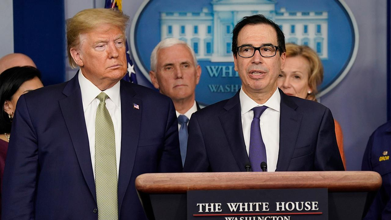 Treasury Secretary Steven Mnuchin says the U.S. Treasury is working with the Federal Reserve and taking significant action to solve the current liquidity issues.