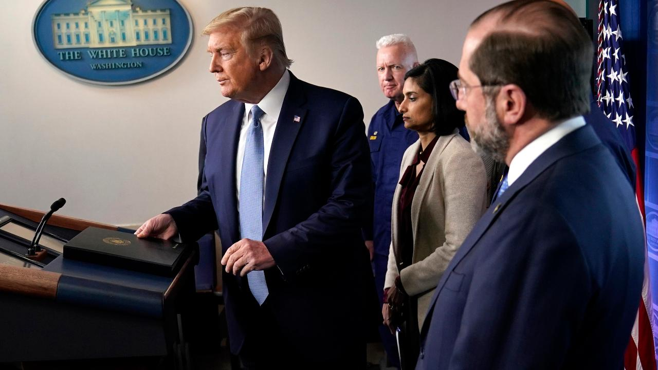 President Trump says his administration will enforce stricter coronavirus guidelines after speaking with G7 leaders, state governors and health care professionals.