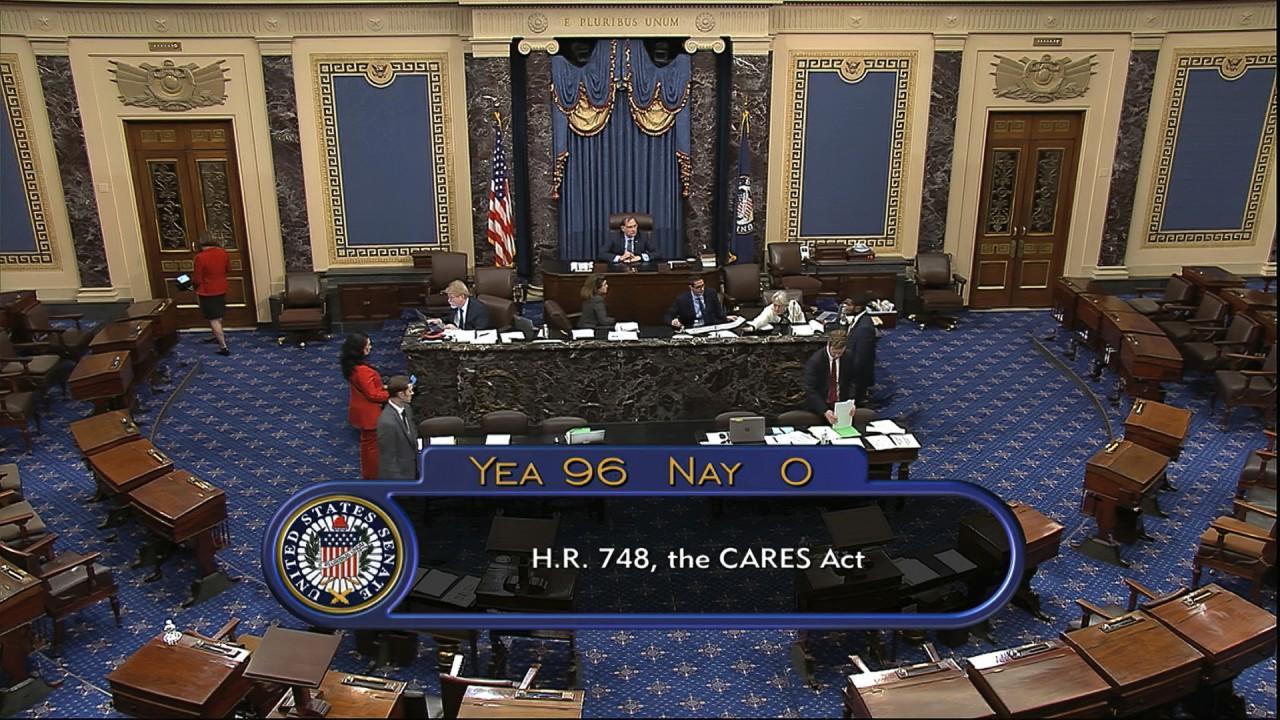 FOX Business' Lou Dobbs called the Senate emergency relief bill a 'grand start.'