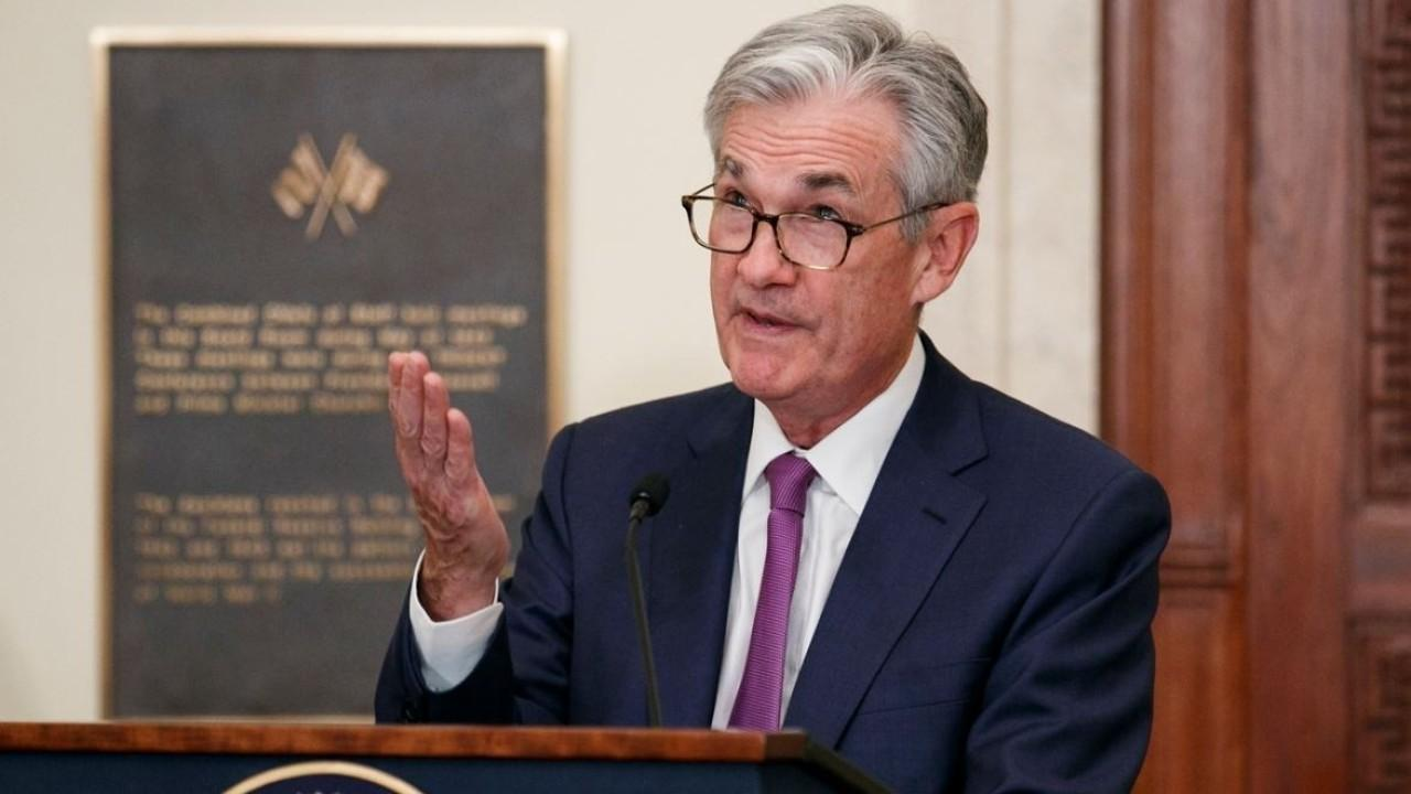 President Trump commends Federal Reserve Chairman Jerome Powell for his actions during the coronavirus outbreak.
