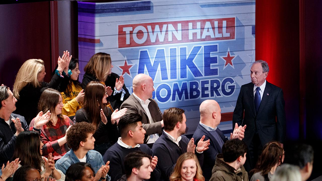 Presidential candidate and former New York City Mayor Mike Bloomberg discusses Amazon and how the retail industry is changing with new companies like The RealReal and Rent The Runway during a Fox News Town Hall.