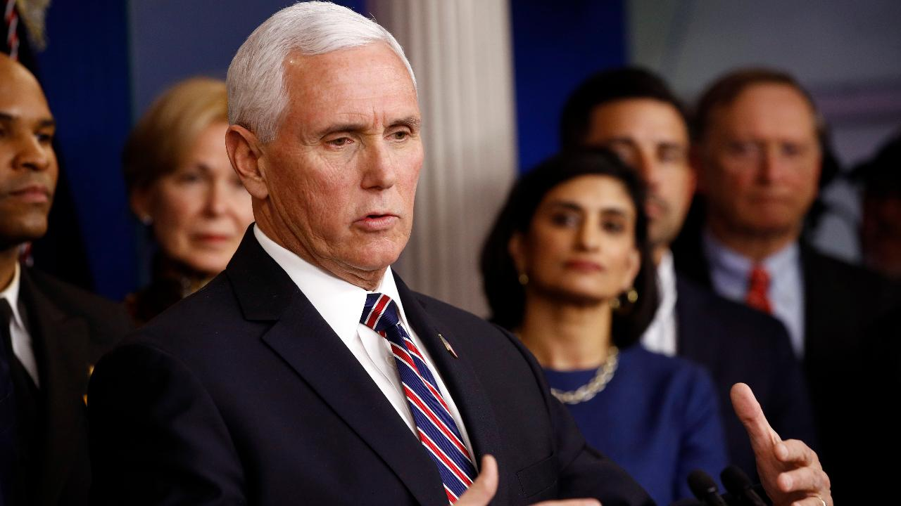 Vice President Mike Pence credits President Trump's approach in handling coronavirus and says pharmaceutical companies are working around the clock to test a vaccine.