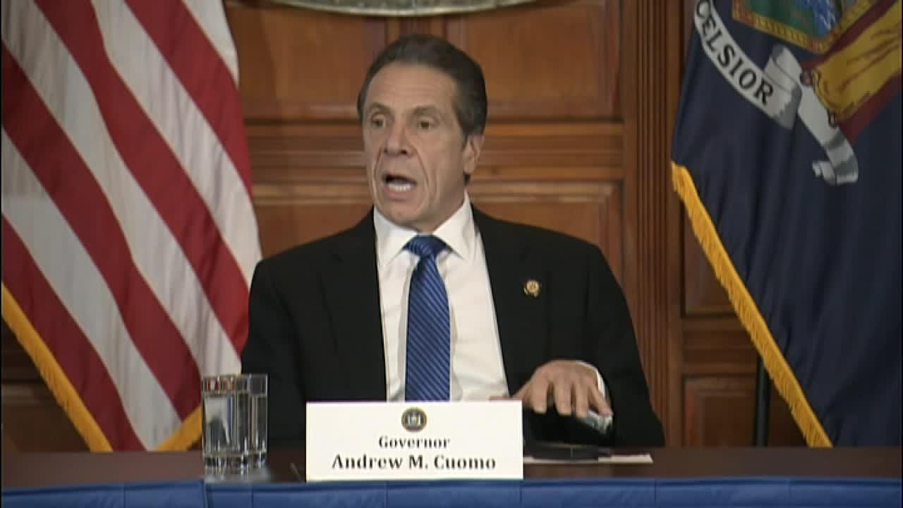New York Gov.  Andrew Cuomo addresses concerns regarding the spread of the coronavirus in New York City and discusses how the virus can live longer on hard surfaces, pushing public transit to redouble cleaning efforts.