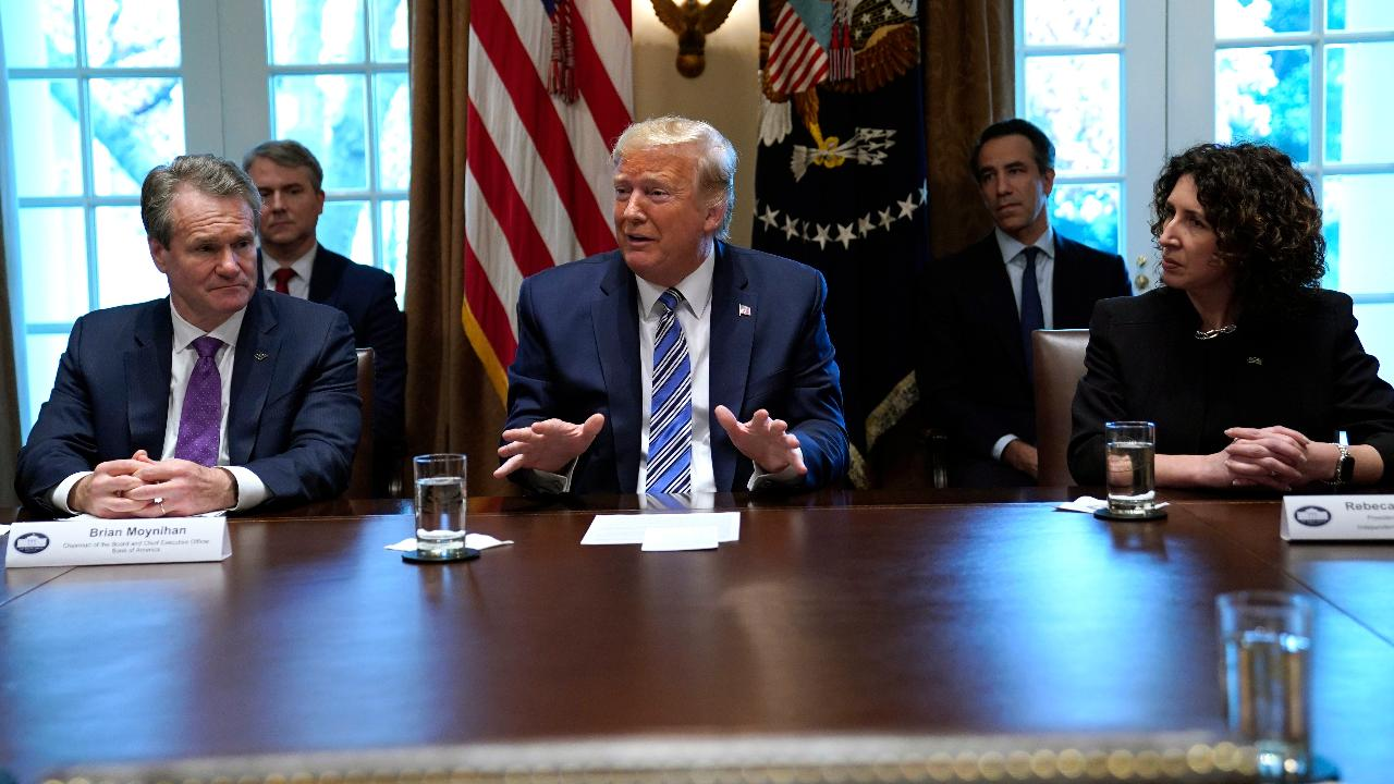 President Trump assures the American public that 'billions of dollars' will be given to small businesses during the coronavirus outbreak.