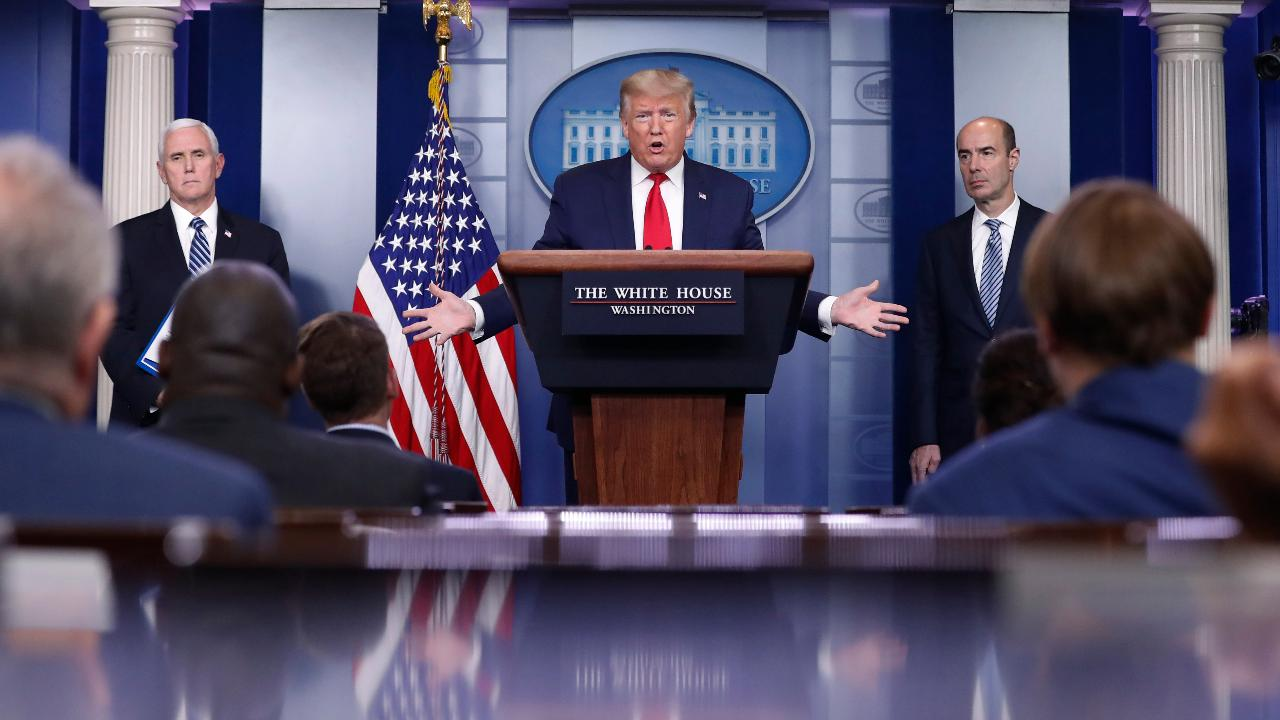 President Trump says it isn't the banks' fault the Paycheck Protection Program is taking longer to process in some cases.