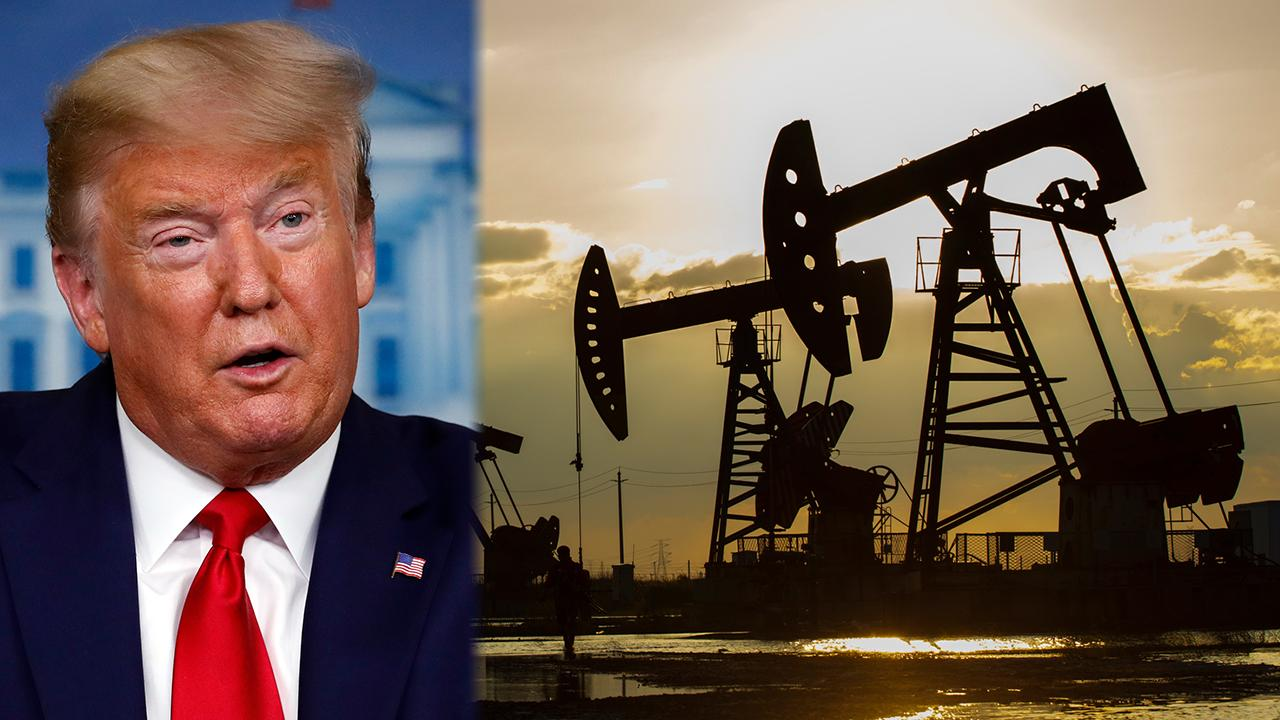 President Trump is considering buying 75 million barrels of oil for the strategic reserve to help out the industry. FOX Business' Hillary Vaughn with more.