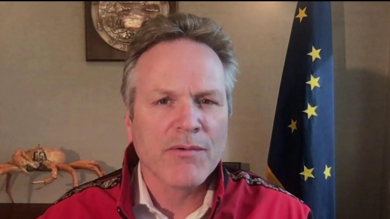 Gov. Mike Dunleavy, R-Alaska, says he will watch coronavirus data very carefully to ensure the state isn't reopening its economy too quickly.