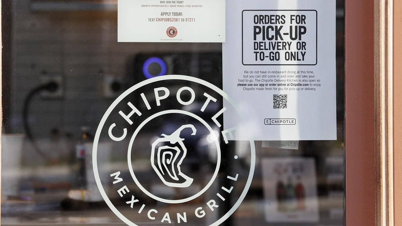 Chipotle Mexican Grill chairman and CEO Brian Niccol says his company transitioned well to takeout only because of their commitment to food safety and says the company will wait until the CDC says it's safe to reopen its restaurants for dining in.