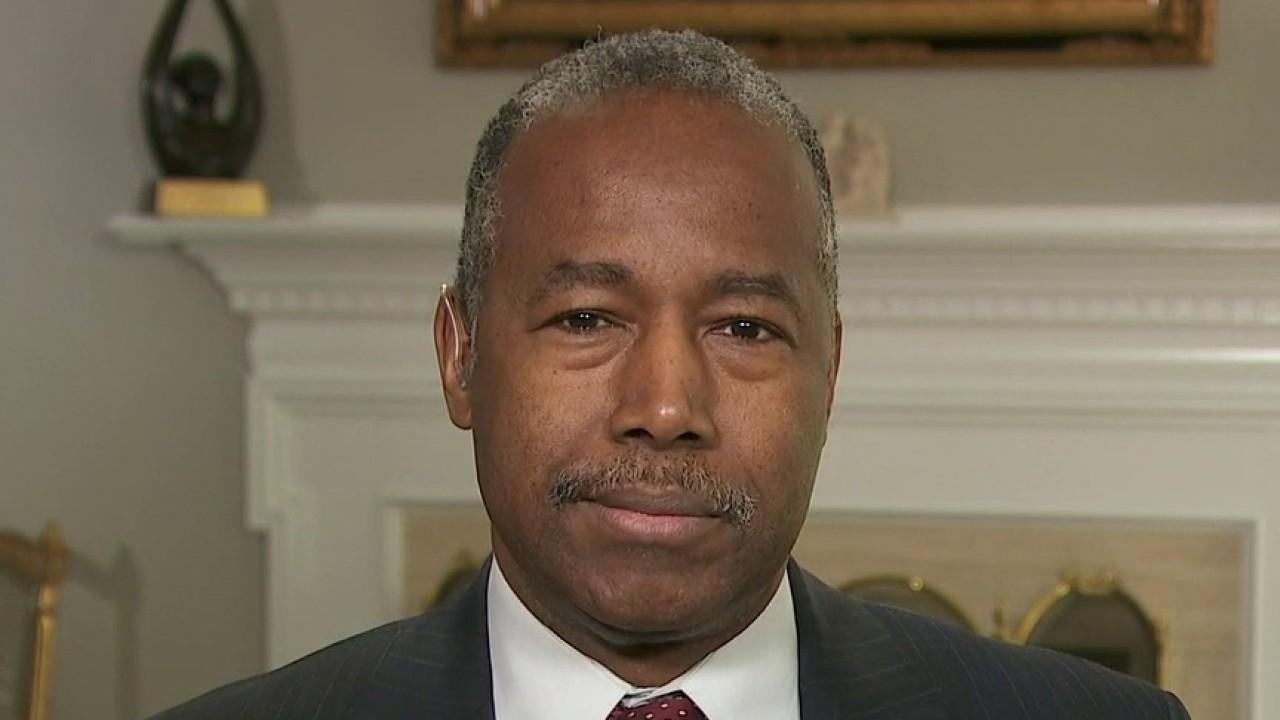 Housing and Urban Development Secretary Ben Carson aims to settle coronavirus fears and discusses the implementation of mortgage relief programming.