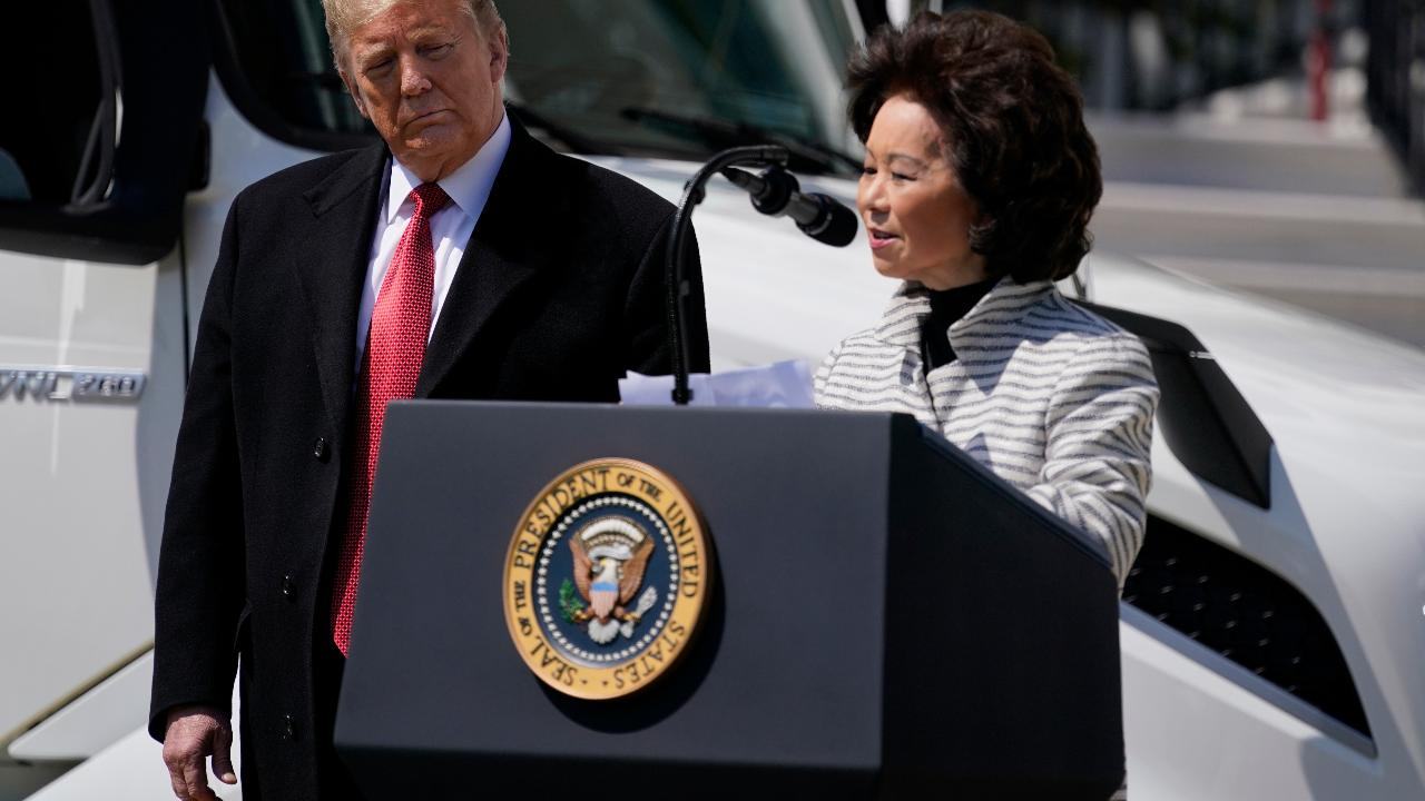 Transportation Secretary Elaine Chao thanks truckers for their efforts during the coronavirus pandemic.
