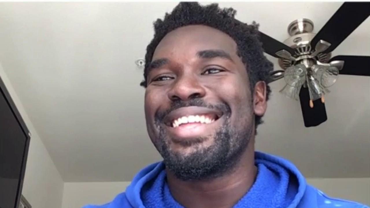 Kansas Jayhawks college football star and NFL draft pick Hakeem Adeniji shares his thoughts on appearing in the first virtual NFL draft.