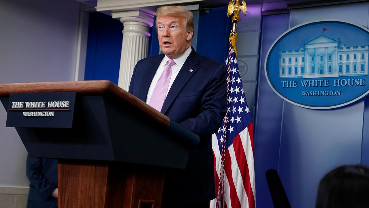 President Donald Trump discusses how credit card and insurance companies should act during the coronavirus outbreak to help Americans.