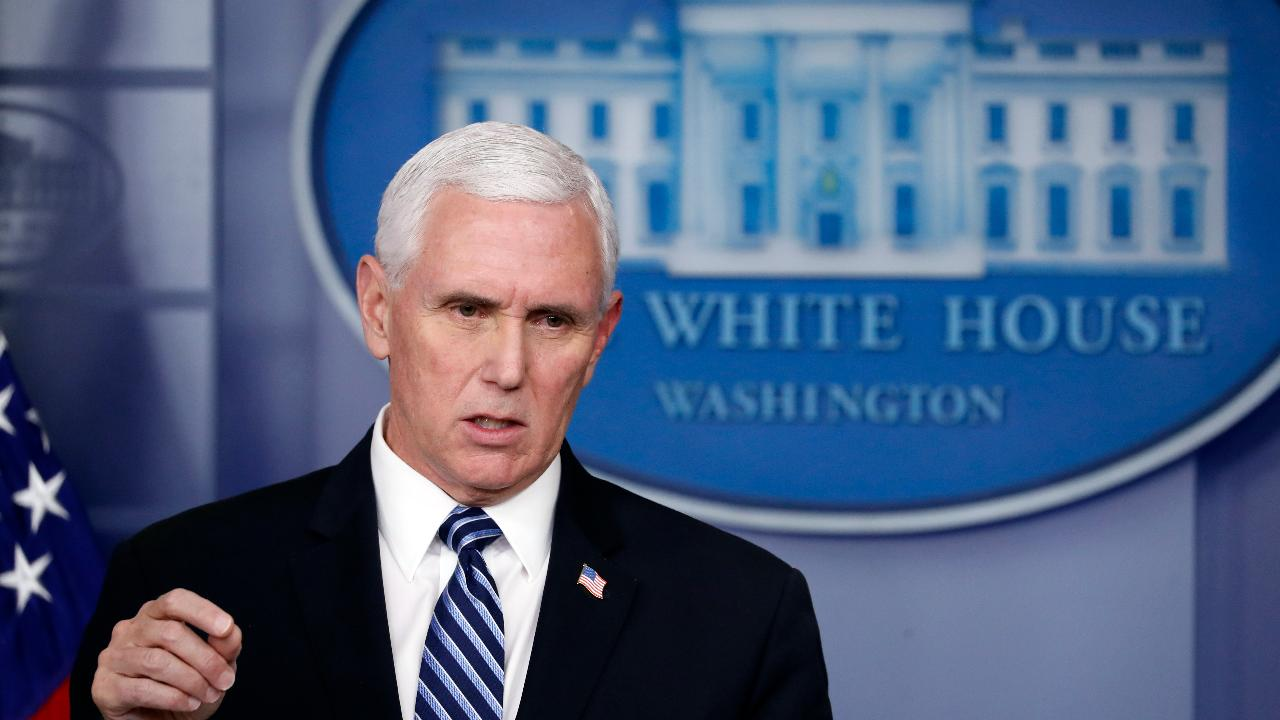 Vice President Mike Pence says individuals and families impacted by coronavirus aren't just numbers, but important human beings.
