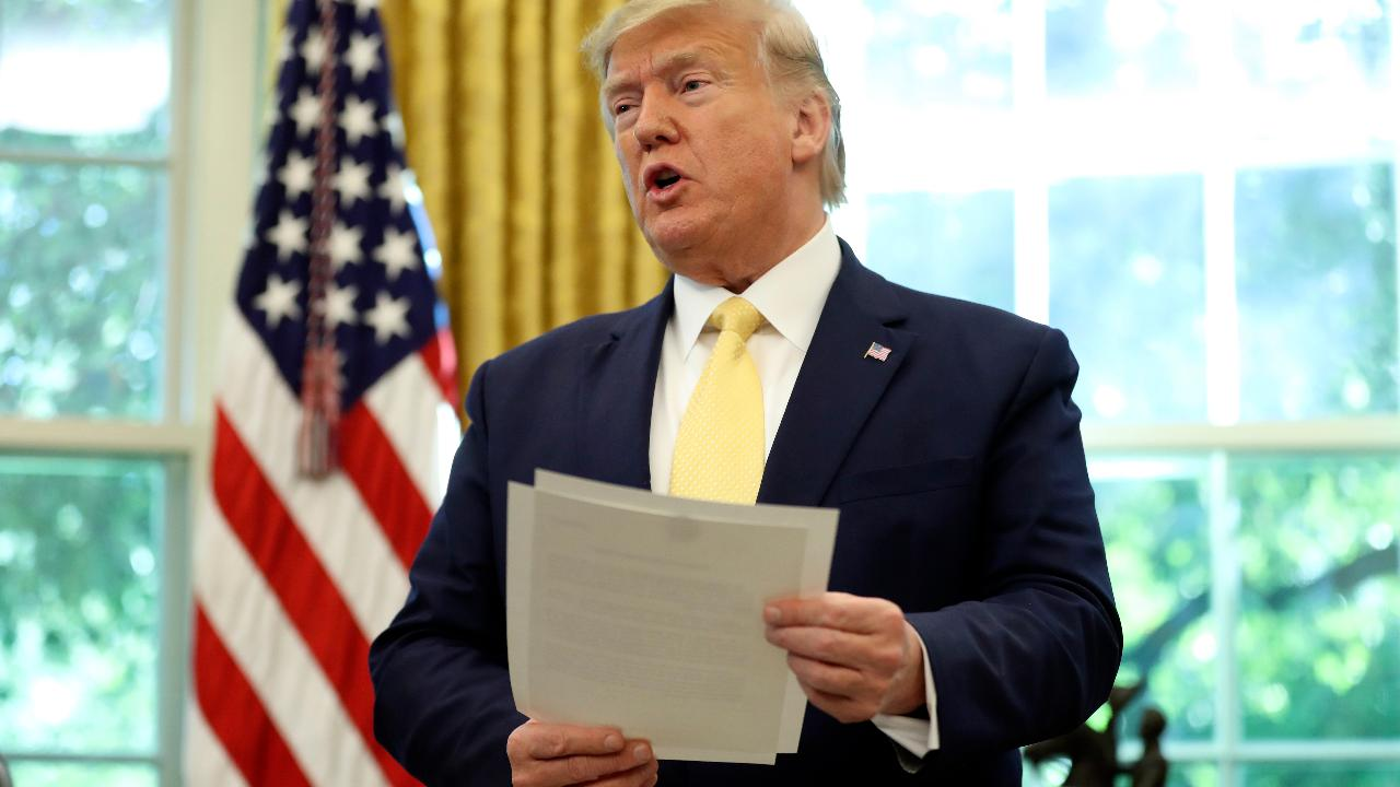 FOX Business' Blake Burman says President Trump will be invoking the Defense Production Act to ensure meat processors stay open during the coronavirus pandemic.