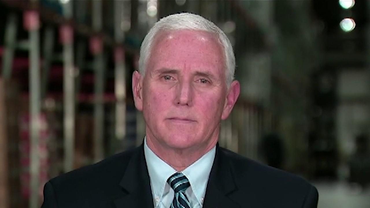 Vice President Mike Pence commends American businesses, farmers and health care workers for their hard work, discusses the estimated death toll caused by coronavirus and encourages everyone to follow the '30 days to slow the spread' guidelines.