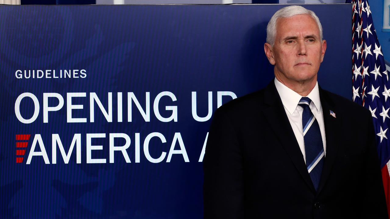Vice President Mike Pence says the guidelines for reopening states are based on up-to-date data, preparedness and phase guidelines.