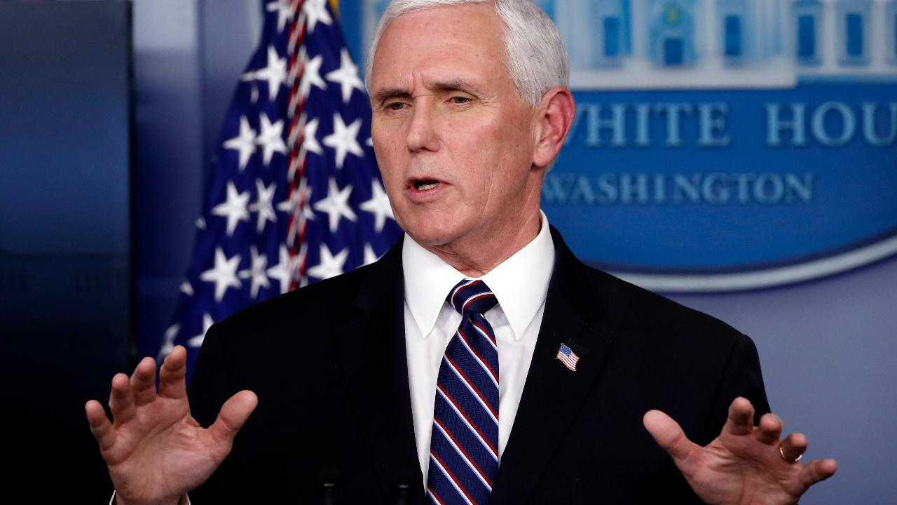 Vice President Mike Pence gives the latest guidance on the coronavirus and says he's hopeful the curve is starting to level out.