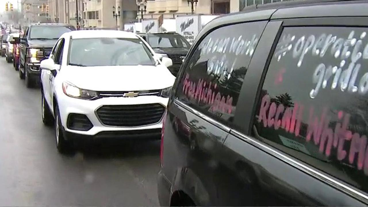 Some Michigan residents say the state stay-at-home order goes too far and are hitting the streets to protest from their cars. FOX Business' Grady Trimble with more.
