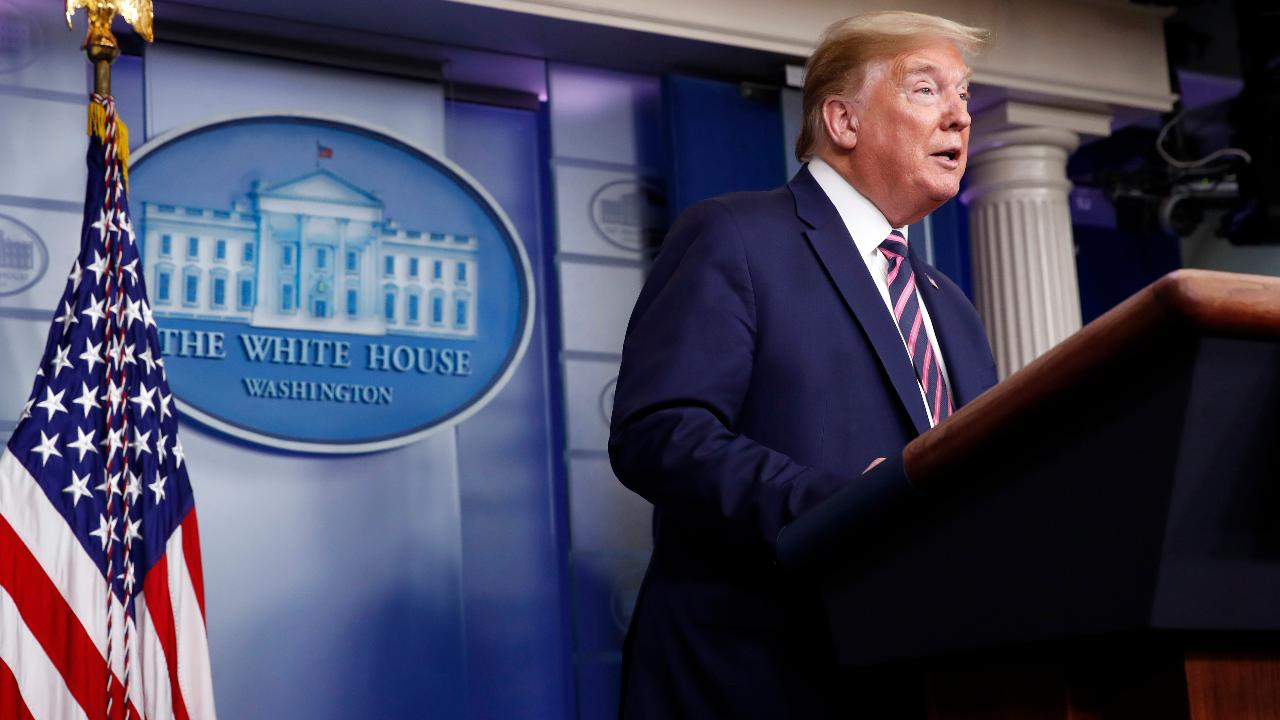 President Trump encourages Americans to practice good hygiene as states reopen and says Apple CEO Tim Cook predicts the United States' economic recovery curve will be V-shaped.
