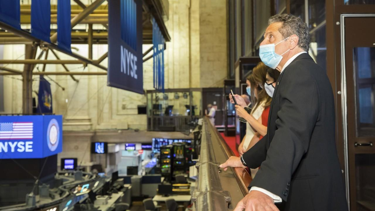 FOX Business' Lauren Simonetti explains why the stocks surged after hearing news about potential coronavirus vaccines and some of the harder hit transportation stocks and travel companies rallied as well.