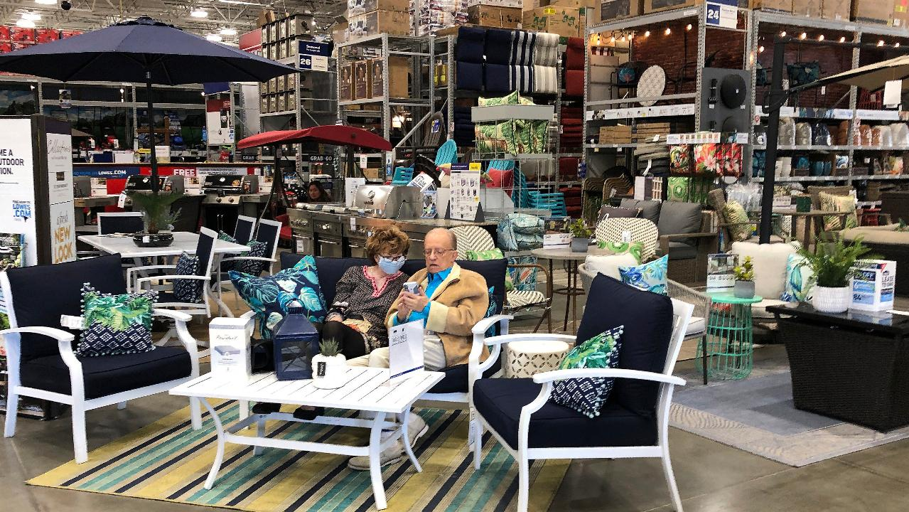 Americans are spending more on outdoor lounge furniture as they spend more time at home. FOX Business' Grady Trimble with more.