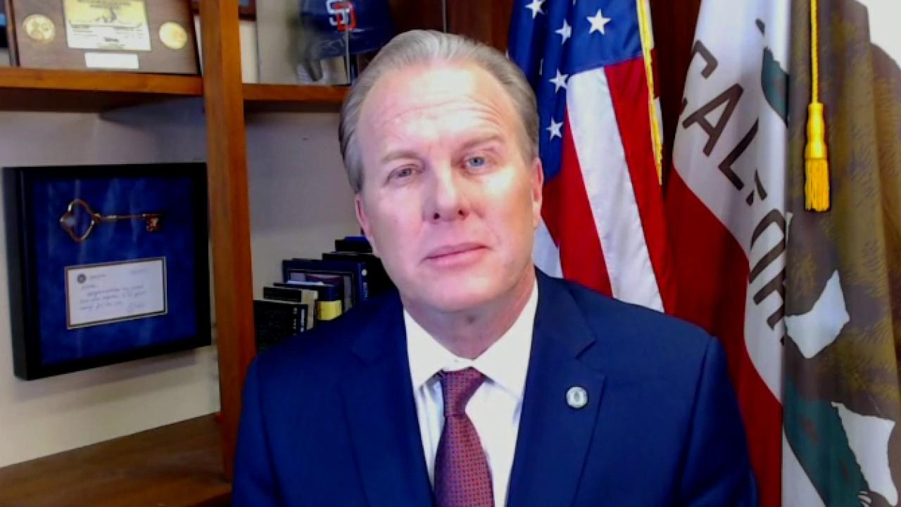 San Diego Mayor Kevin Faulconer discusses protecting coronavirus first responders and accelerating reopening.